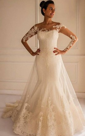 Cream Wedding Dress