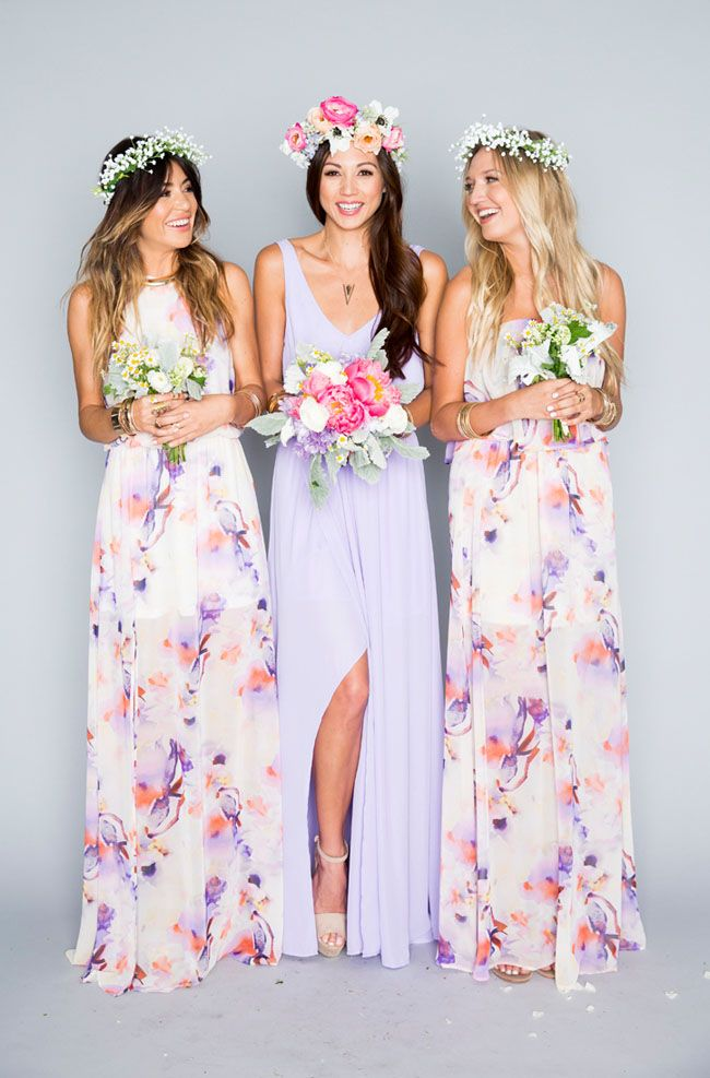 Patterned Bridesmaid Dresses ABQECECg