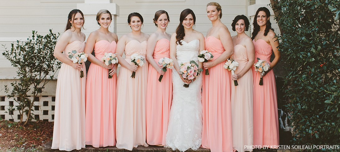 Peach Bridesmaid Dresses cahO4SN5