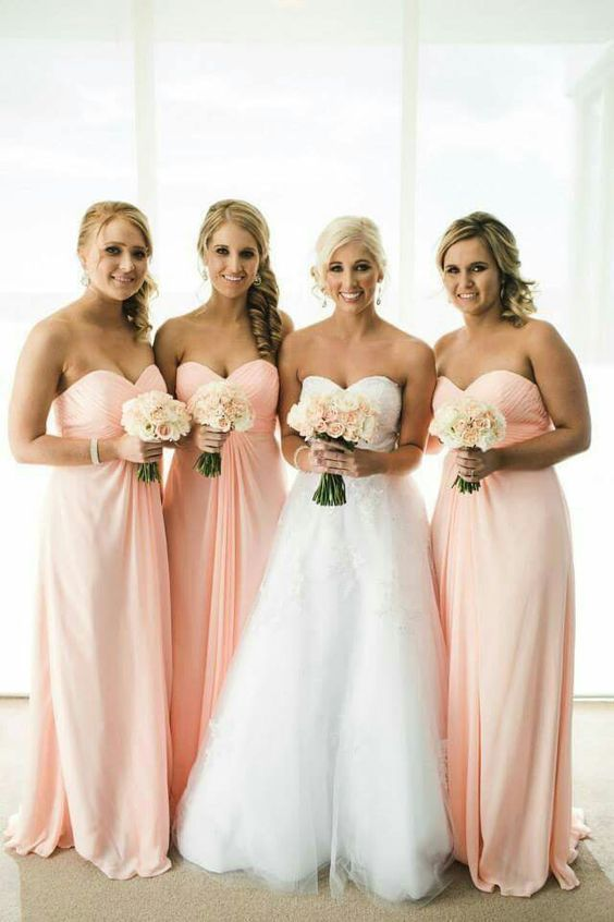 Peach Bridesmaid Dresses EvSEHnBw
