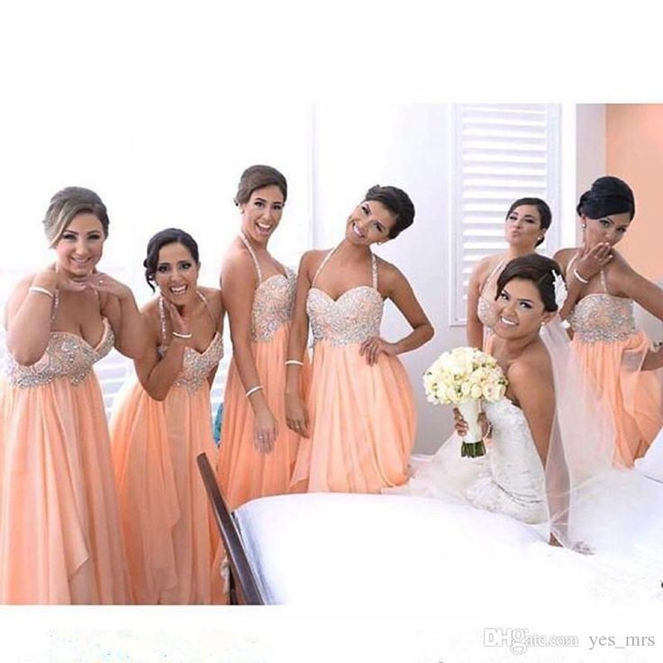 Peach Bridesmaid Dresses qKqxwOBi