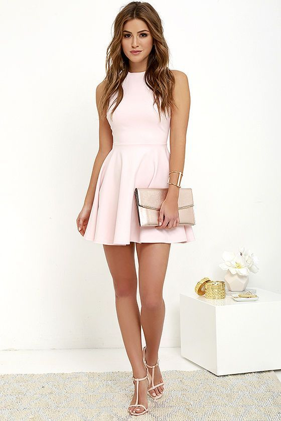 color shoes with light pink dress