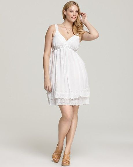 Plus Size White Summer Dresses - Nini Dress