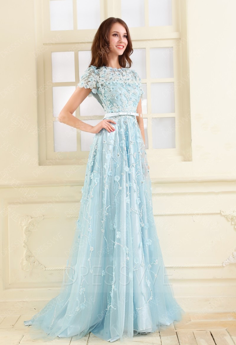 Old Fashioned Prom Dresses With Short Sleeves Mold - Wedding Dress ...