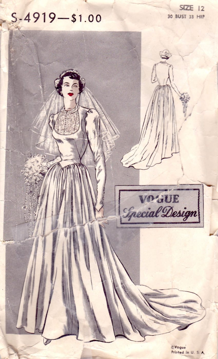 48681779d39 Vintage Wedding Dress Patterns - Nini Dress