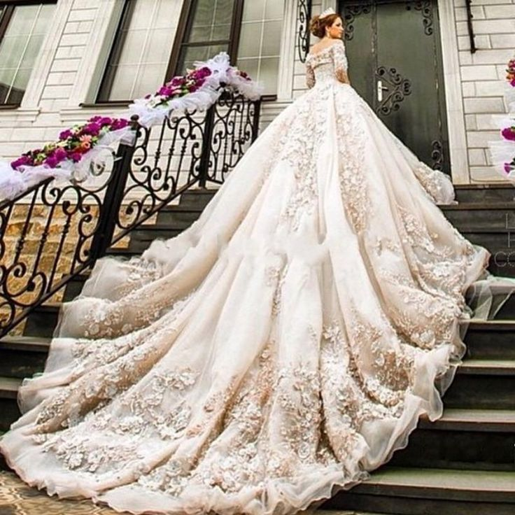 Wedding Dresses With Long Trains Lw6inygn