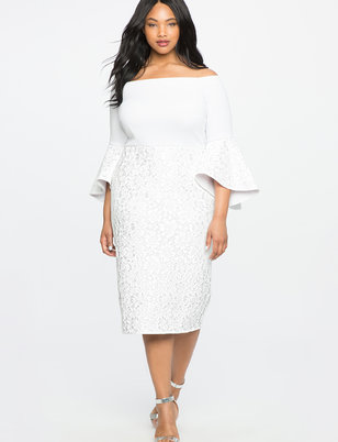White Plus Size Dresses - Nini Dress